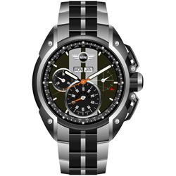 MINI Swiss Watches熱血剽悍計時腕錶(MINI-05S)-灰/45mm