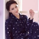 羅絲美 熊熊雪花長袖褲裝睡衣 (魅力藍)