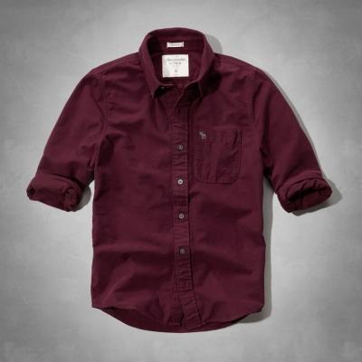 AF a&f Abercrombie & Fitch 長袖 襯衫 紅色 0141