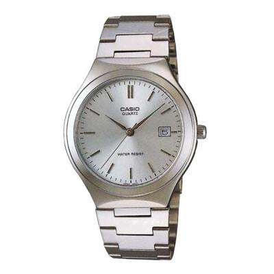 CASIO 經典日期顯示指針紳士錶(MTP-1170A-7A)-銀白/35mm