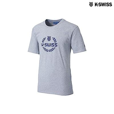 K-Swiss Laurel Crown Tee印花短袖T恤-女-灰