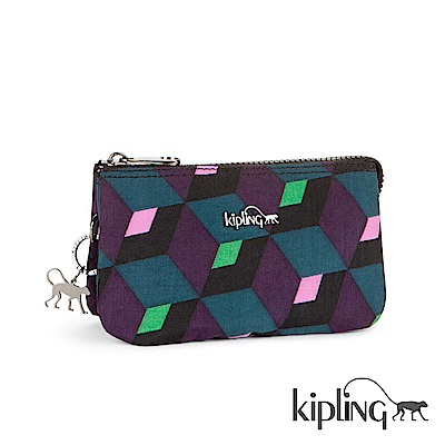 Kipling 零錢包 鏡面幾何印花-小