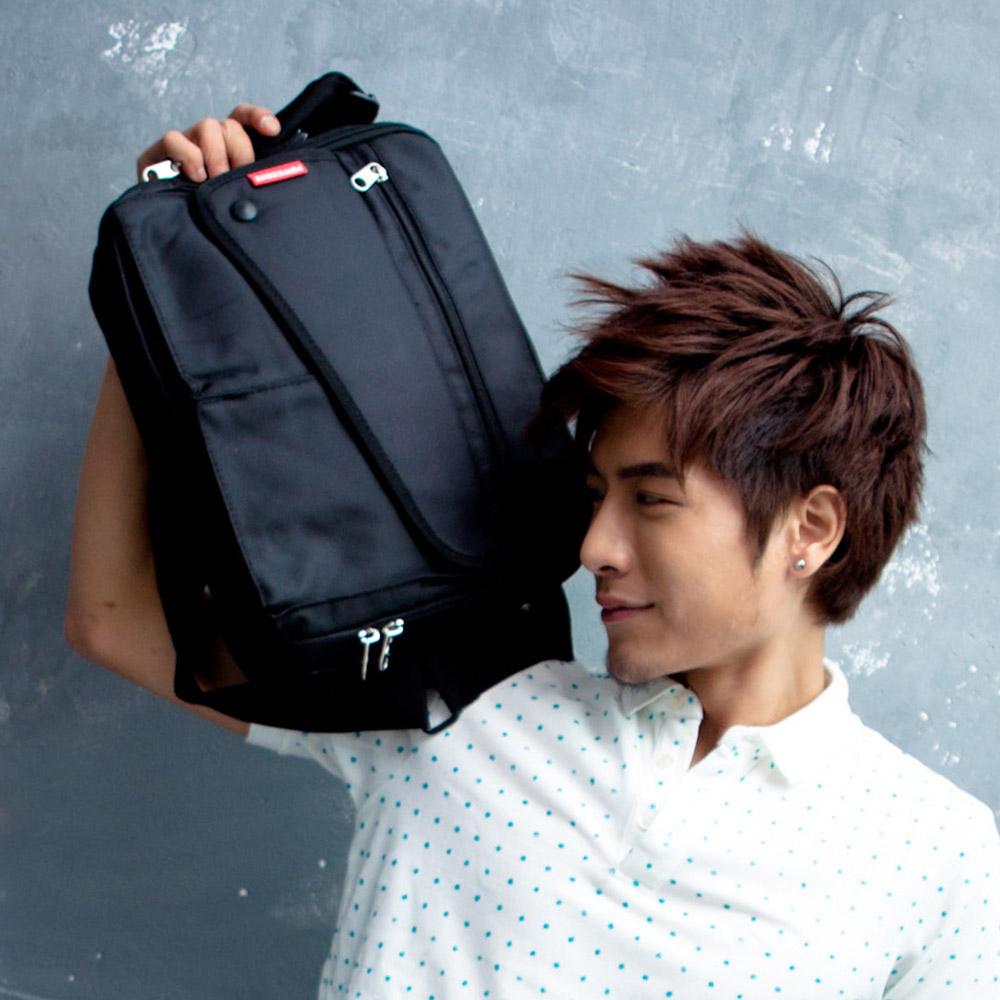【Bag school 包學院】潮流達人款.機能實用斜背包
