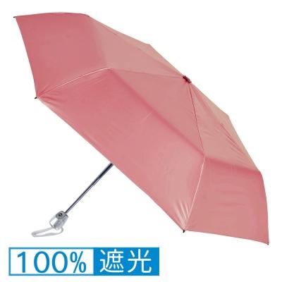 2mm 第二代 100%遮光降溫 黑膠自動開收傘 (粉紅)