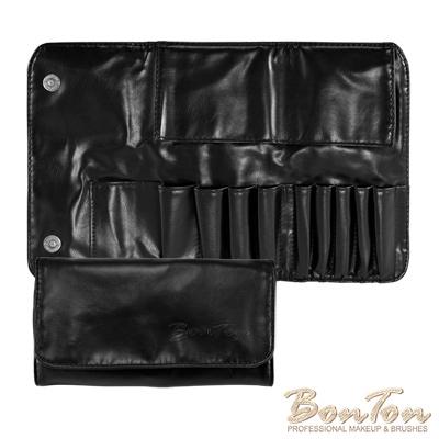 BonTon 9支時尚黑軟皮雙磁扣刷包