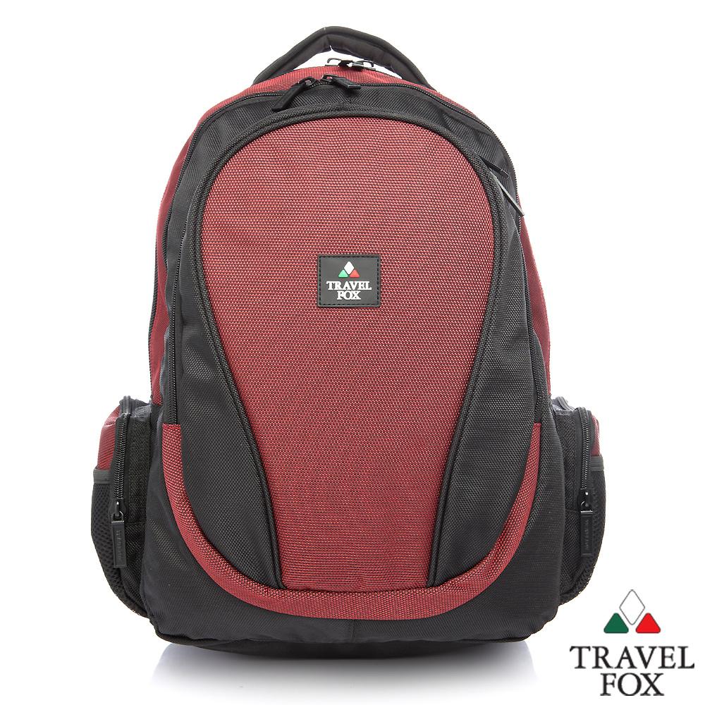 【Travel Fox】旅狐格陵多功電腦後背包(咖啡紅)(TB610-04)