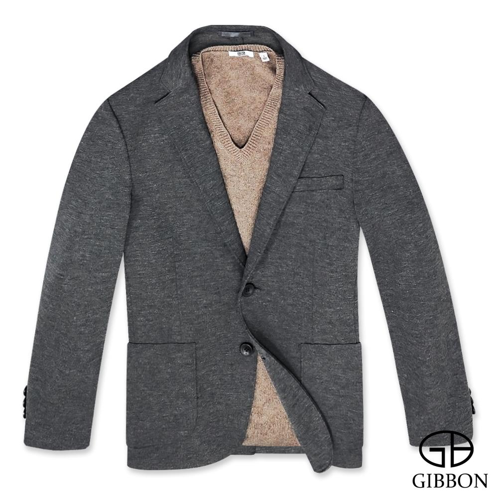 GIBBON 極簡純色休閒西裝外套‧深灰L-3L