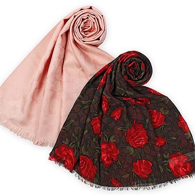 COACH  經典滿版LOGO 羊毛混絲圍巾(多款)-均一價3280