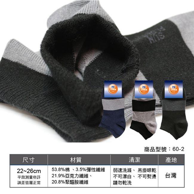 Sun Flower三花 隱形襪(粗條紋).襪子(12雙組)