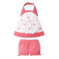 baby童衣 可愛清涼掛脖吊帶上衣裙及短褲小童套裝 61145