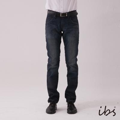 IBS 簡約設計低腰直筒褲-深藍-男