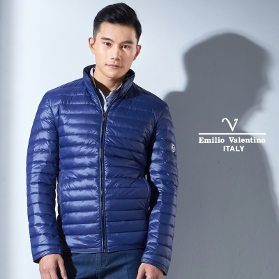 Emilio Valentino 高品質羽絨立領防風外套_寶藍(33-7K9850)