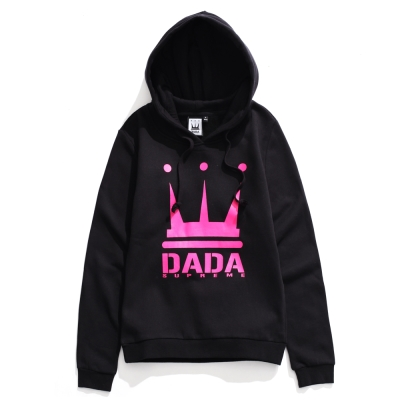 DADA-經典皇冠大LOGO美式休閒內刷毛Hood