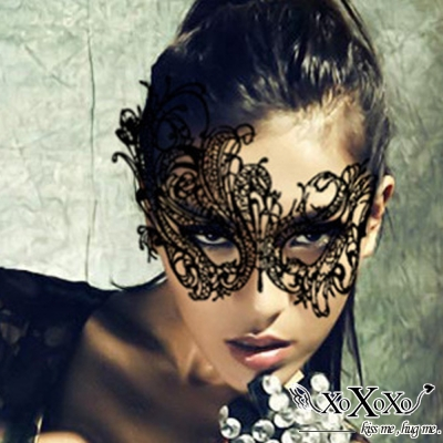面罩 性感鏤空蕾絲面罩-才人 買1送1 XOXOXO