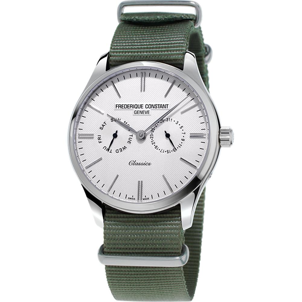 康斯登Classics Quartz 百年經典Day-Date腕錶-40mm/白x綠