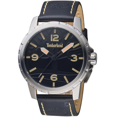 Timberland狂野硬派時尚腕錶(TBL.15257JS 02)-44mm/黑