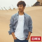 EDWIN 襯衫 點點牛津襯衫 -男-藍色