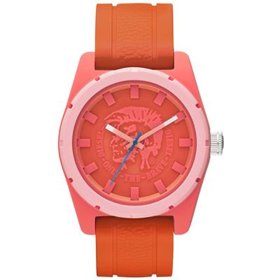 DIESEL 英勇騎兵時尚運動腕錶-橘紅/46mm