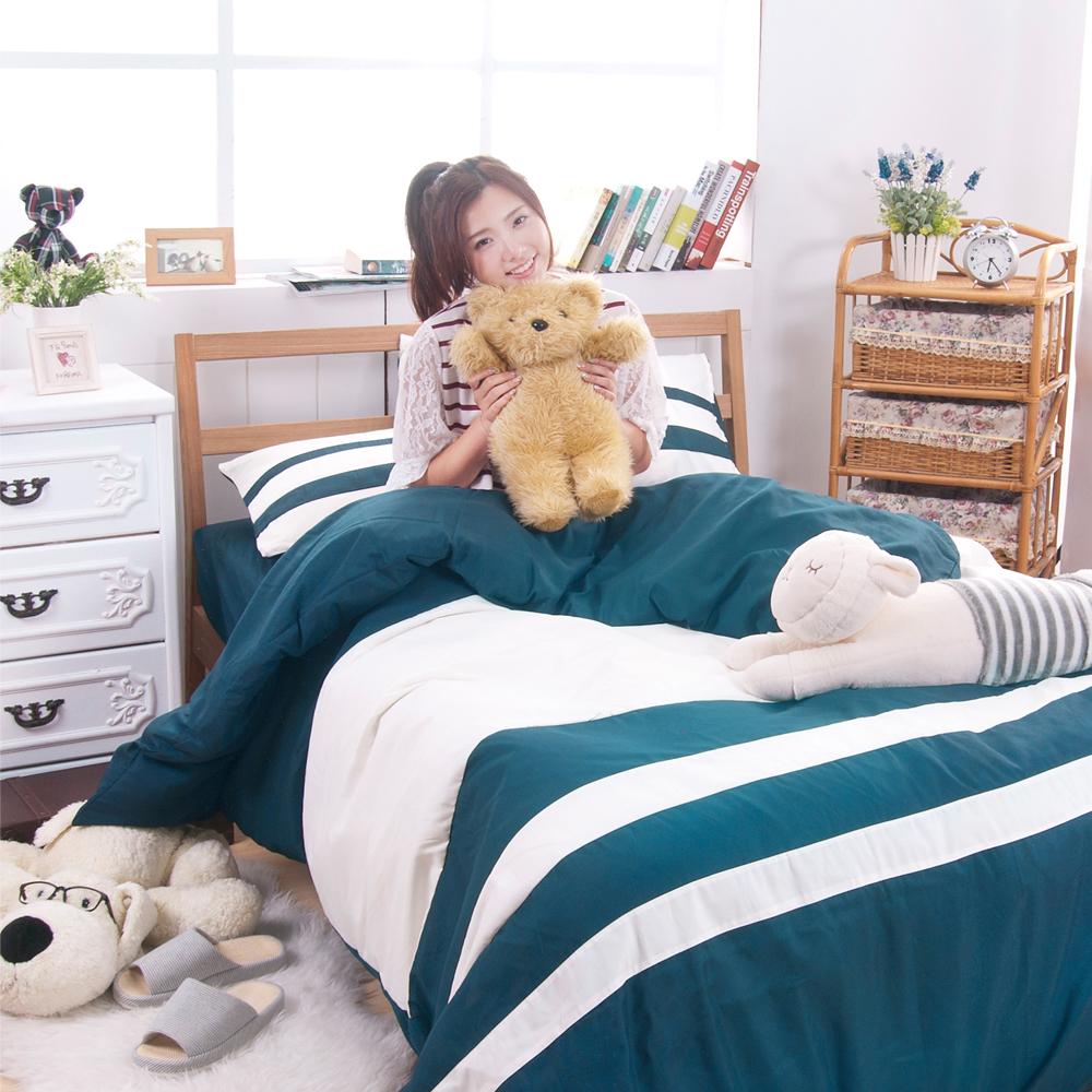 日本濱川佐櫻-精彩.綠 雙人四件式彩拼設計被套床包組