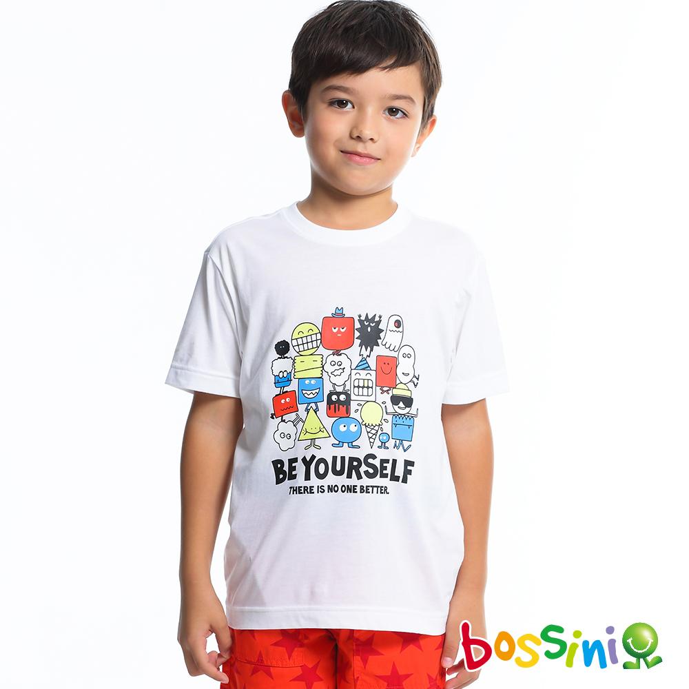 bossini男童-印花短袖T恤11珍珠白