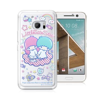 三麗鷗正版 雙子星 HTC 10 / M10 透明軟式保護殼(休閒)