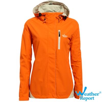 北歐Weather Report AIRTECH 機能防水透濕外套-女款(橘)