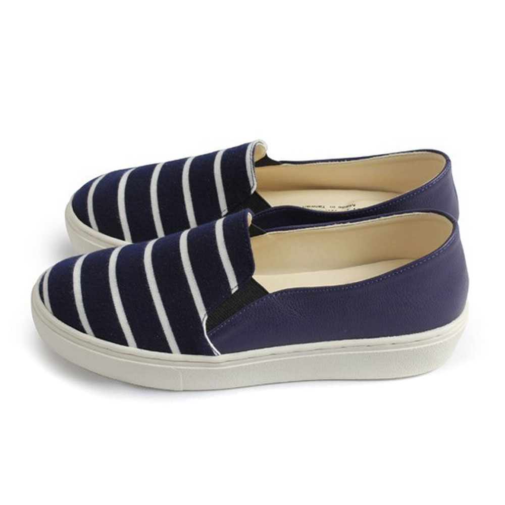 FUFA  MIT 條紋海軍風厚底鞋 $690 (FL06)-藍色