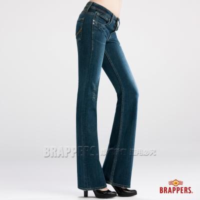 BRAPPERS 女款 女垮褲系列-女用小喇叭褲-藍