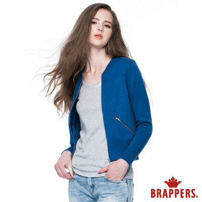 BRAPPERS 女款 女用短版針織外套-寶藍