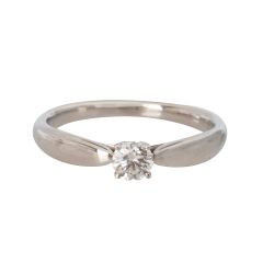 Tiffany&Co. PT950圓型六爪0.22克拉鑽石戒指(#10)