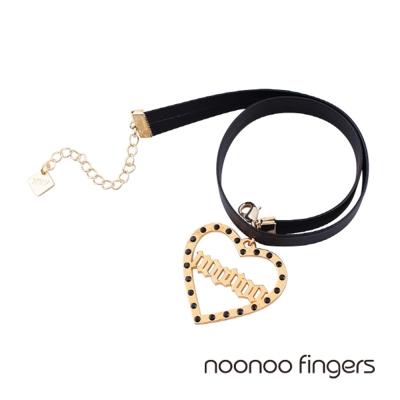 Noonoo Fingers Muse Noonoo 愛心簍空周邊鑲水鑽頸鍊