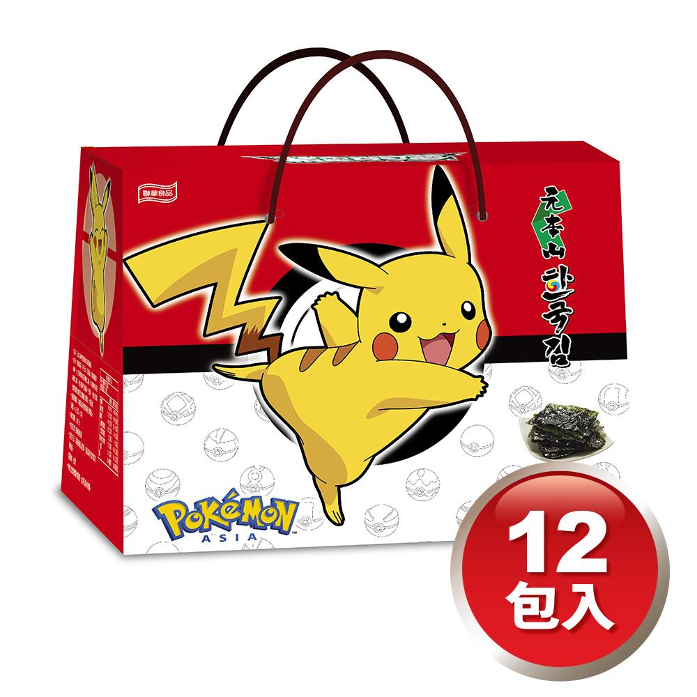 元本山神奇寶貝韓式海苔禮盒12包盒