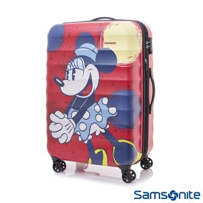 Samsonite新秀麗 Diseny米妮聯名款24吋TSA防刮可擴充行李箱(霧面紅)