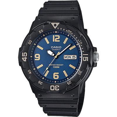 CASIO 卡西歐 DIVER LOOK 潛水運動風手錶-藍x黑/47.9mm