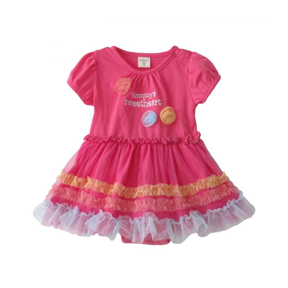 baby童衣 包屁衣 公主泡泡袖連身衣 32162
