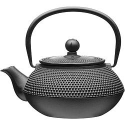 KitchenCraft 鑄鐵濾茶壺(墨黑點珠0.6L)