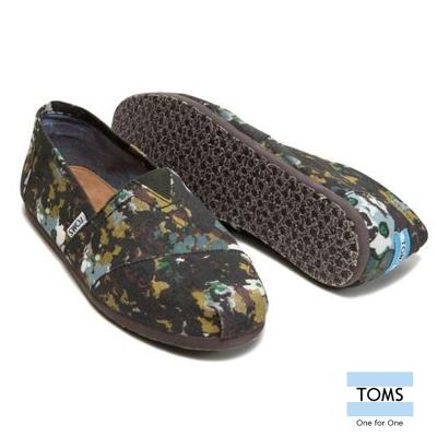 TOMS 迷彩圖紋懶人鞋-男款