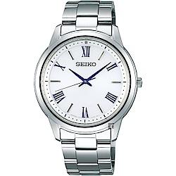 SEIKO精工SPIRIT 太陽能日系時尚手錶(SBPL007J)-銀/38.8mm