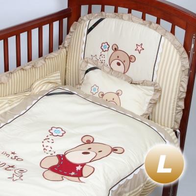 Yip Baby KUMA 3M嬰兒床專用周邊配件八件組-L(130 x 70 cm)