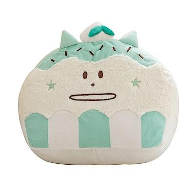 CRAFTHOLIC 宇宙人 巧克力薄荷貓造型靠枕