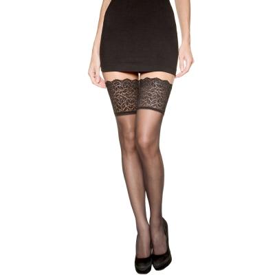 法國DIM-「SEXY」系列造型寬版蕾絲大腿襪15D