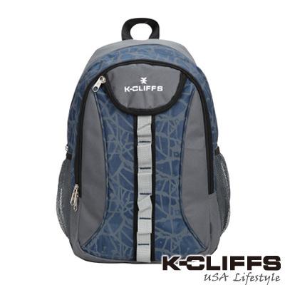 【美國K-CLIFFS】潮流繽紛雙肩後背包-潮流藍