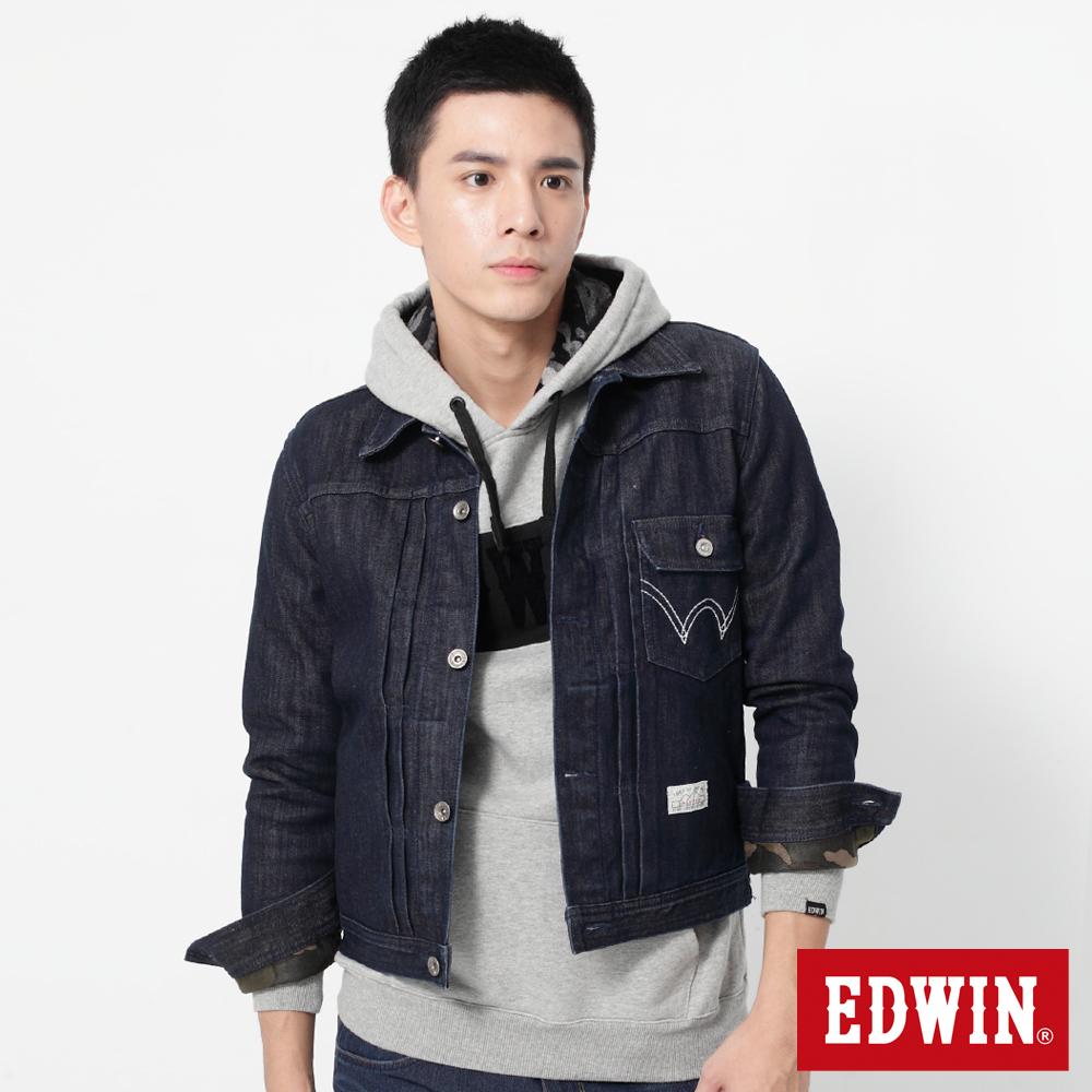 EDWIN 復古保溫牛仔外套-男-原藍色