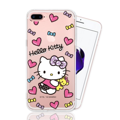 HELLO KITTY iphone 7 Plus 彩繪空壓手機殼-娃娃