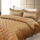 LAMINA 雙色亮面精梳棉六件式床罩組-可可咖(加大) product thumbnail 1