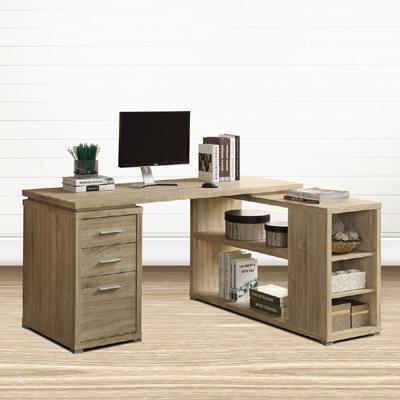 Comdesk 複合式L型電腦書桌-兩色可選-DIY
