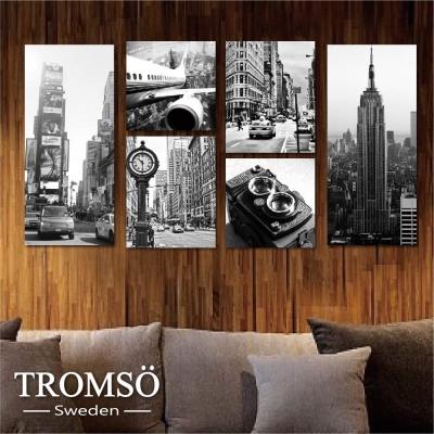 TROMSO時尚無框畫-黑白紐約 (6件1幅)