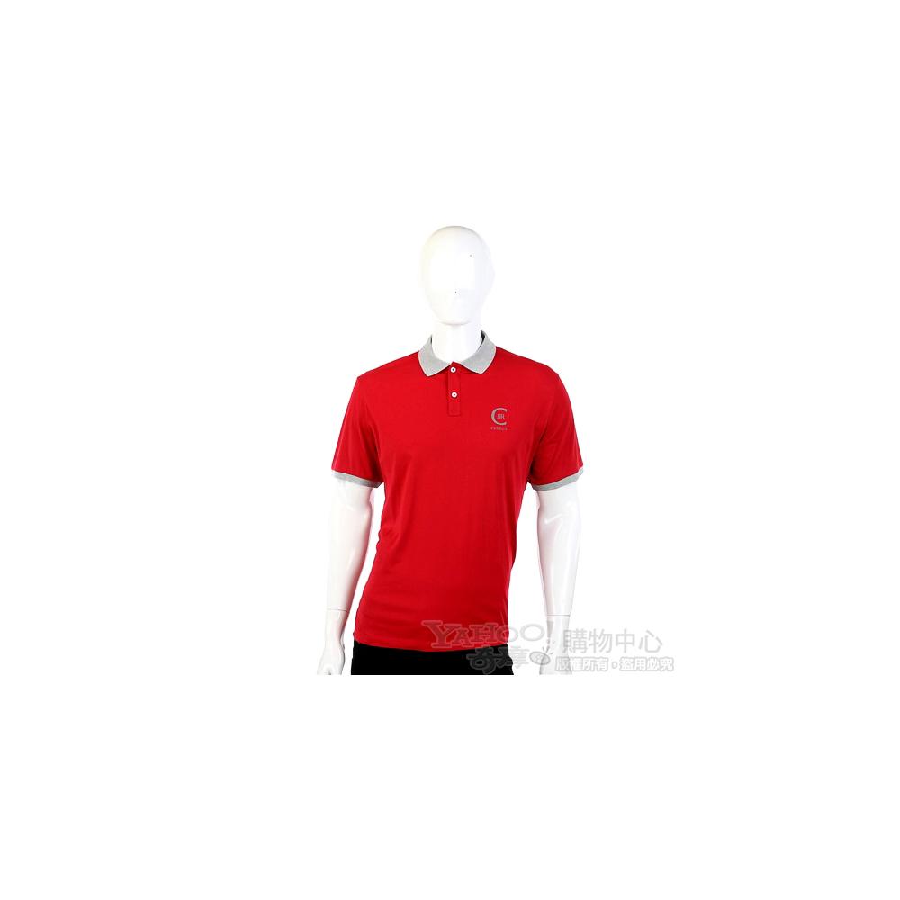 CERRUTI 1881 紅/灰色字母LOGO短袖POLO衫