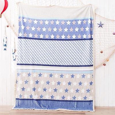 美夢元素 超柔舒適法蘭絨冬毯 滿天星星(200*150cm)