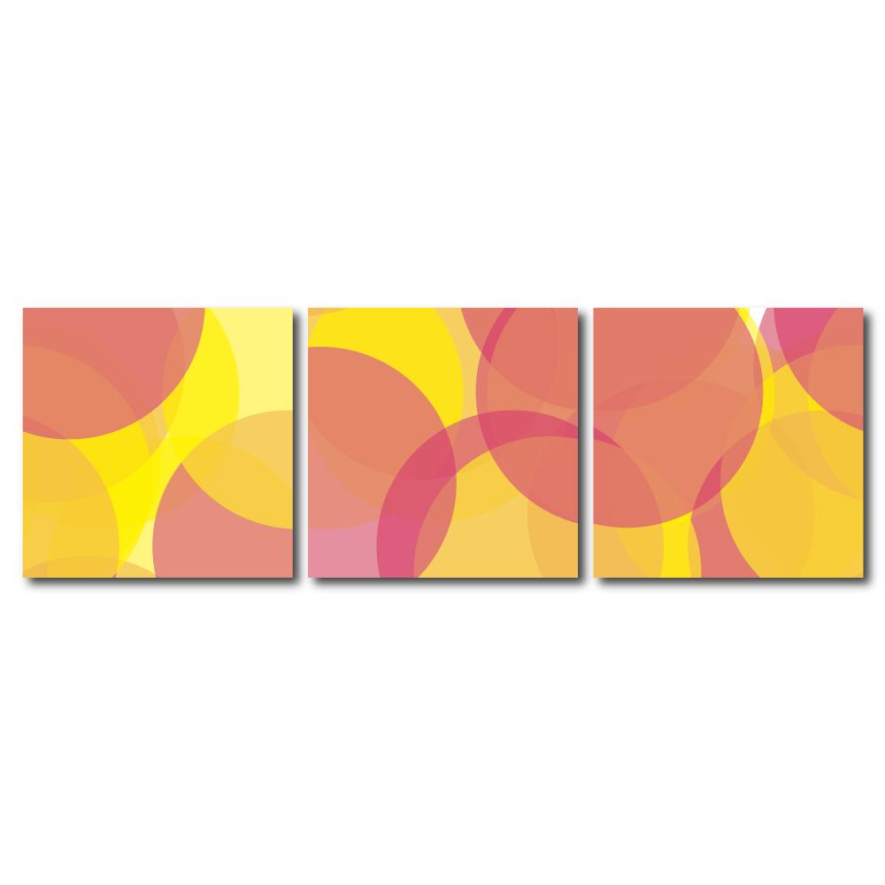 123點點貼- 三聯式無痕創意壁貼 -幻境柔姿30*30cm
